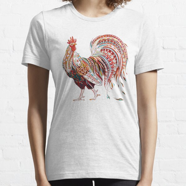 Patterned fiery rooster Essential T-Shirt
