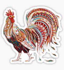Patterned fiery rooster Sticker