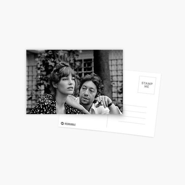 Gainsbourg Birkin Carte postale