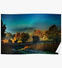 Castle Rock Misty Morning Poster