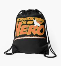 Boston Terrier Super Hero Drawstring Bag