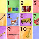 Jazzy Music Instruments and Numbers  by TheMelodyBook