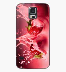 Strawberries Splash Case/Skin for Samsung Galaxy