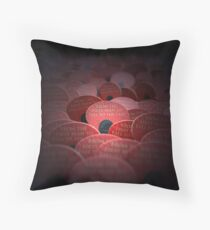 Red Poppy Flower - War Memorial Throw Pillow