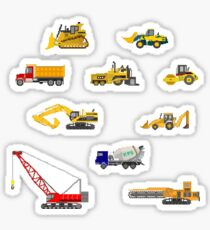 Construction Vehicles - The Kids' Picture Show - 8-Bit Sticker