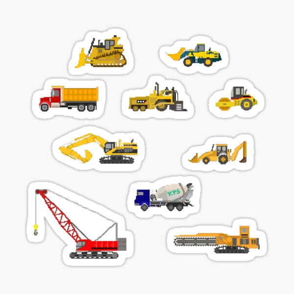 Construction Vehicles - The Kids' Picture Show Sticker