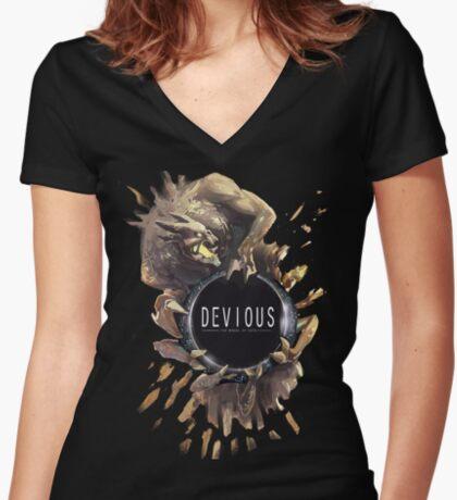 Némesis Camiseta entallada de cuello en V