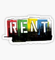 Rent Logo Color Sticker