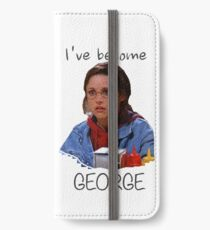 Elaine - I've Become George (dark) iPhone Wallet