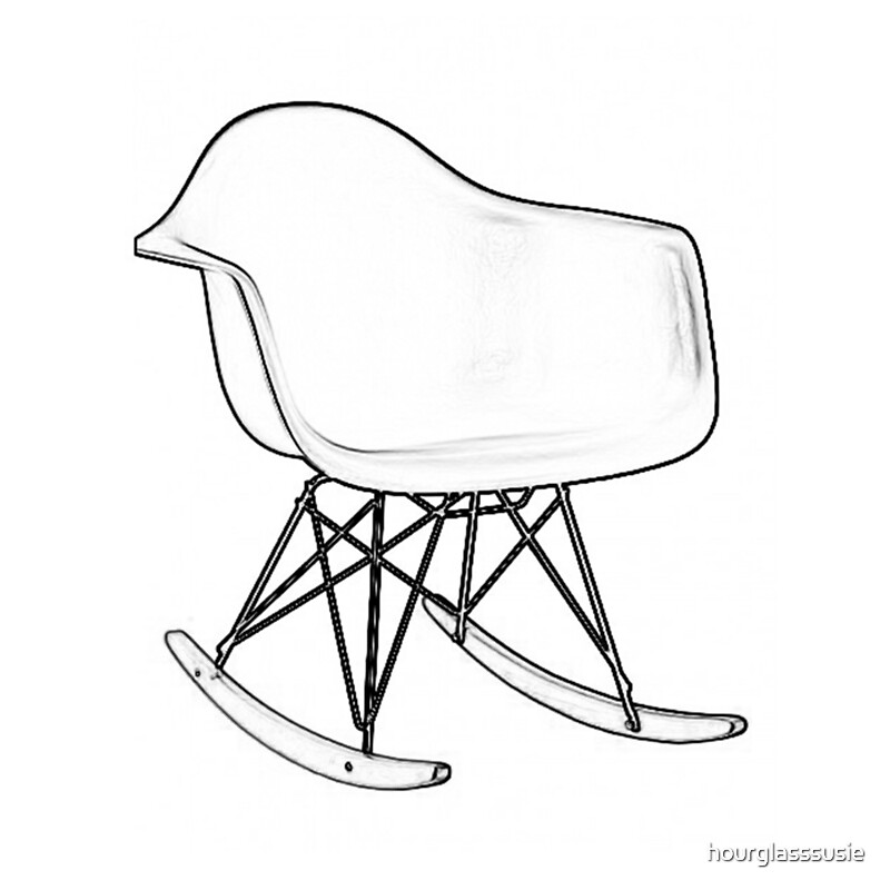 Rocking Chair Drawing Easy. Eames Rocking Chair Drawing Easy C