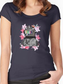 Berberes flowers Women's Fitted Scoop T-Shirt