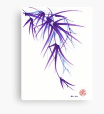Summer - Lavender bamboo sumie brush painting Canvas Print