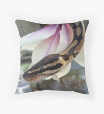 Tigerlily the ball python Throw Pillow