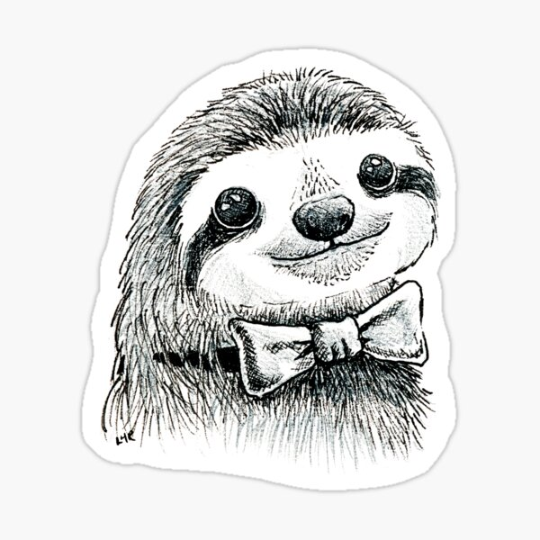 Dapper Sloth Sticker