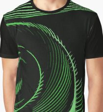 Green spiral, abstraction, visual, optical illusion Graphic T-Shirt