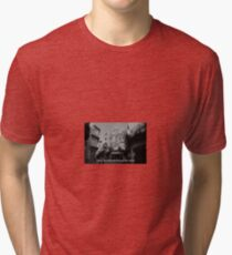 Lomography white and black photo with text Only my dream keeps me alive Tri-blend T-Shirt