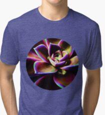 RAINBOW SUCCULENT Tri-blend T-Shirt