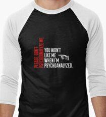 Please Don't Psychoanalyze Me Men's Baseball ¾ T-Shirt
