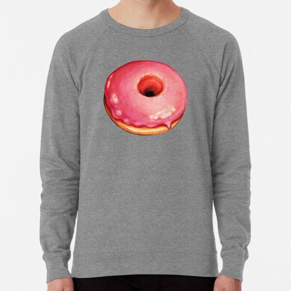 Strawberry Donut Pattern Lightweight Sweatshirt