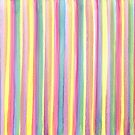 Watercolor Stripes by FrankieCat