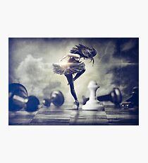 Queen Takes Pawn Photographic Print