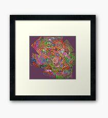 Flower Mish Mash Framed Print
