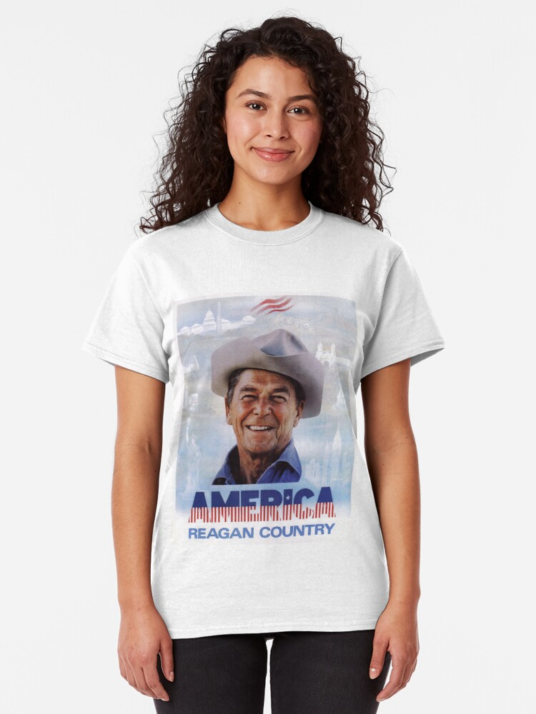 Alternate view of America Reagan Country - Vintage 1980s Campaign Poster Classic T-Shirt