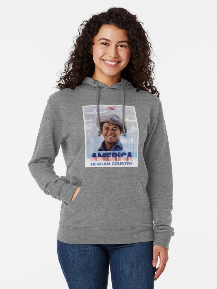 Alternate view of America Reagan Country - Vintage 1980s Campaign Poster Lightweight Hoodie