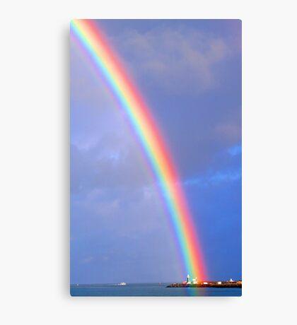 Rainbow Over The Lighthouse - Fremantle Western Australia Canvas Print