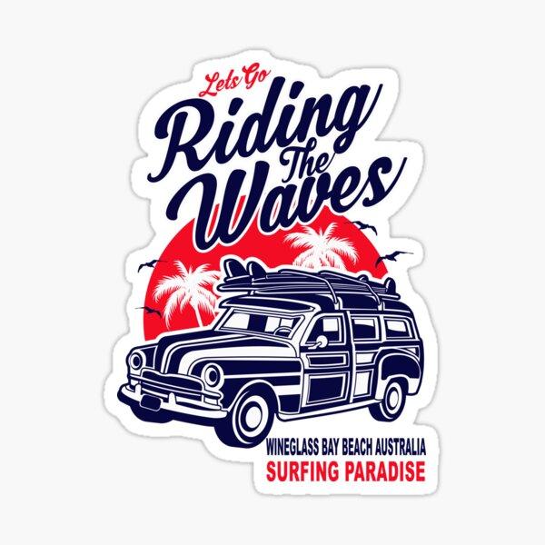 Wineglass Bay Beach Australia Surfing Paradise Sticker