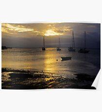 Sunset Savusavu Harbour (Landscape)  Poster