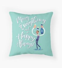 Jimmy the Prosecco Elf Throw Pillow