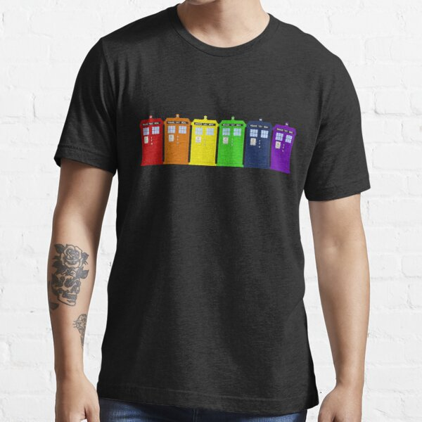 Rainbow Tardis' Essential T-Shirt