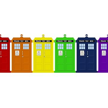Rainbow Tardis' by geekoutgalaxy