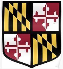 Maryland Flag Shield  Poster