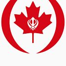 Canadian Sikh Multinational Patriot Flag Series by Carbon-Fibre Media