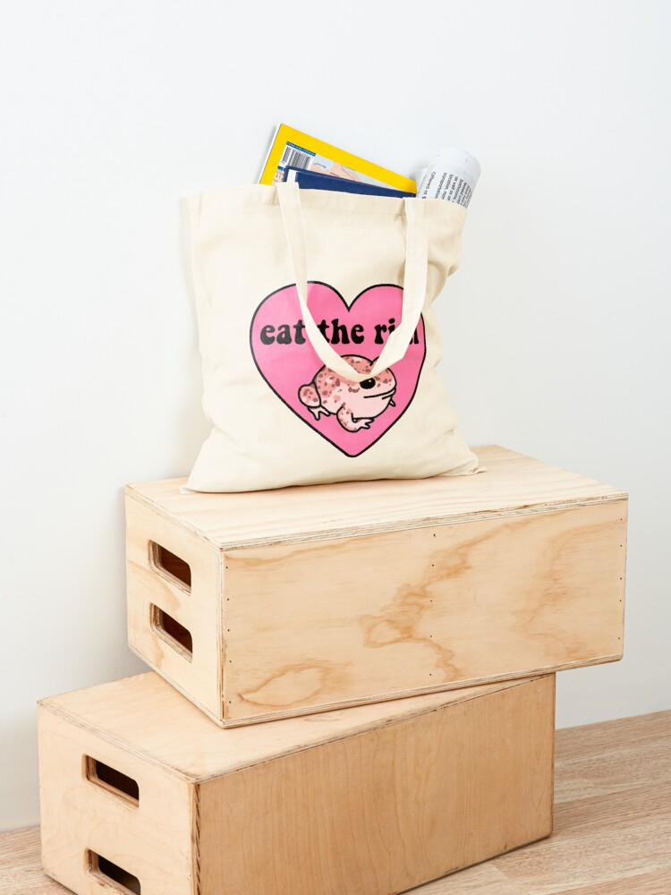 Alternate view of Eat The Rich Frog Tote Bag