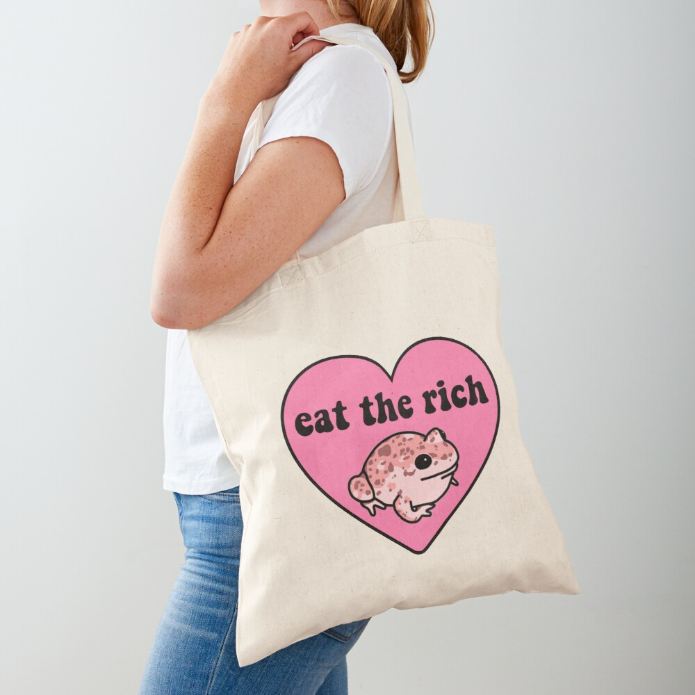 Eat The Rich Frog Tote Bag