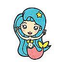 Mermaid - Blue Hair by bayleejae