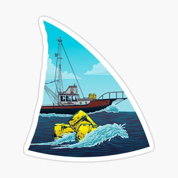Jaws: The Orca Sticker