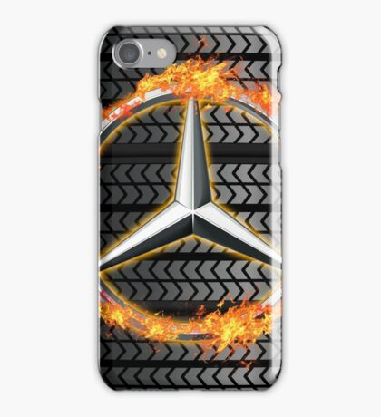 Mercedes Benz on Fire iPhone Case/Skin