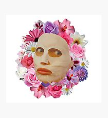 Alyssa Edwards Beauty Mask With Flowers - Rupaul's Drag Race All Stars 2  Photographic Print