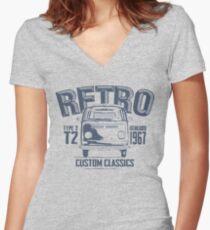 NEW Men's Classic Camper Van T-shirt Women's Fitted V-Neck T-Shirt