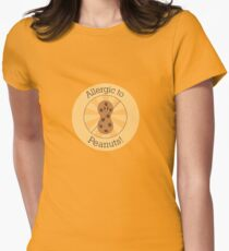 Allergic to Peanuts Women's Fitted T-Shirt