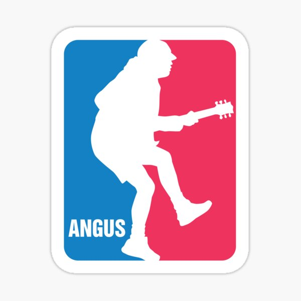 Logo Angus Young Sport Sticker