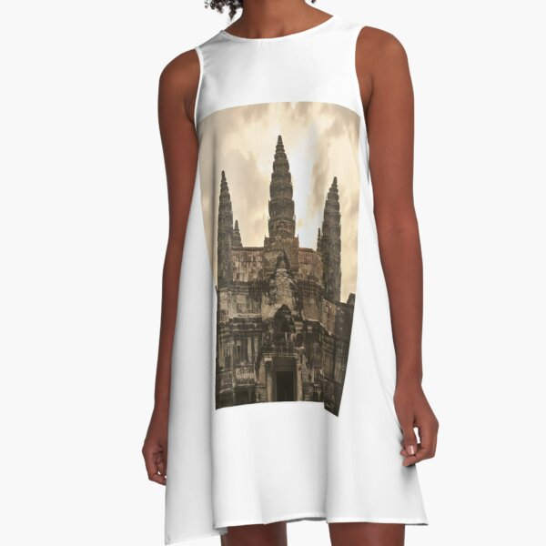 Angkor Wat Siem Reap Cambodia Asia A-Line Dress