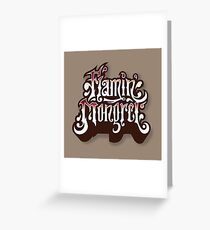 Flamin' mongrel Greeting Card