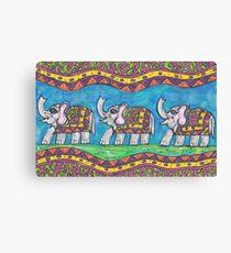 Groovy Elephant Parade Canvas Print