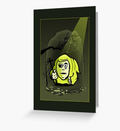 Hunchback Monk VRS2 Greeting Card