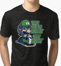 Luigi MK8 - Ridin' Dirty Tri-blend T-Shirt